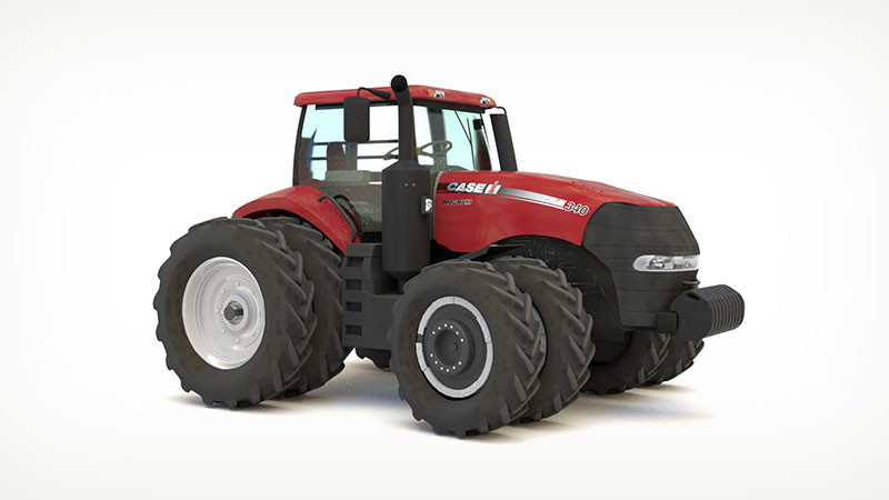 3D render of a Magnum tractor
